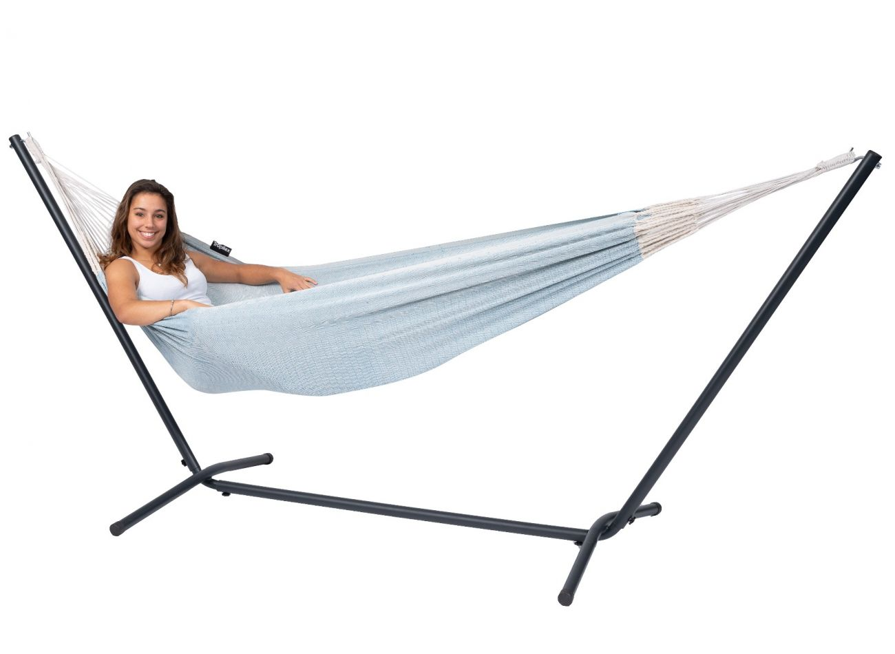 Hammock with 1 Person Stand Easy & Natural Blue