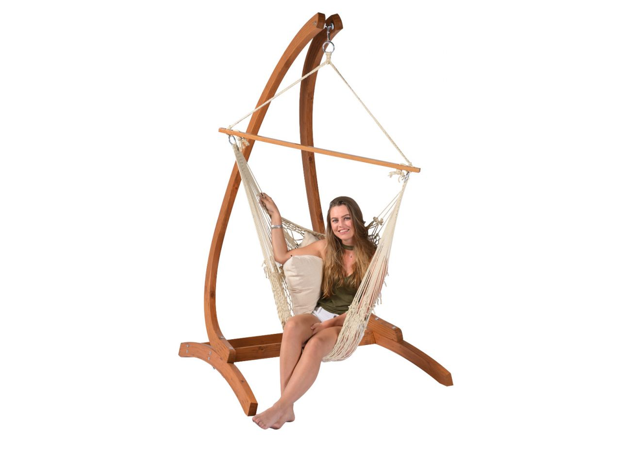 Hanging Chair 1 Person Rope Natura