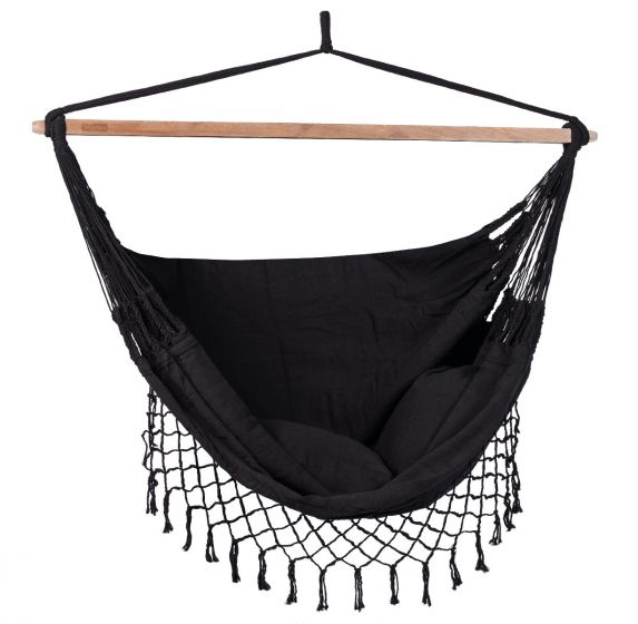 Hanging Chair 2 Persons DeLuxe Black