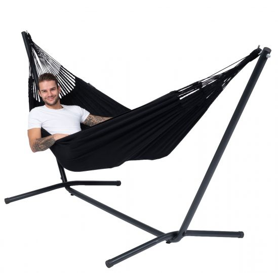 Hammock with 1 Person Stand Easy & Classic Black