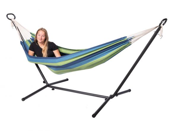 Hammock with 1 Person Stand Pine Single