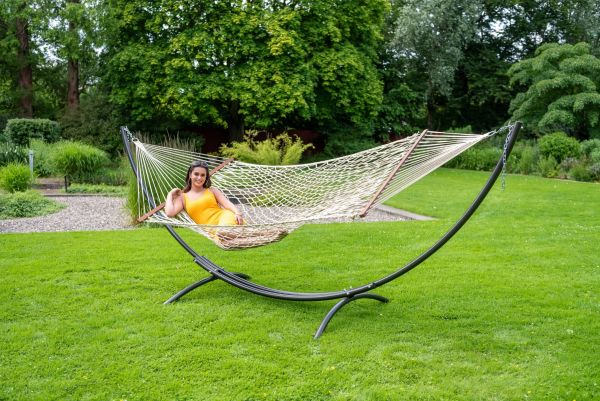 Hammock with Family Stand Arc & Rope Natura