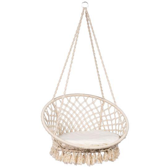 Hanging Chair 1 Person Macramé White