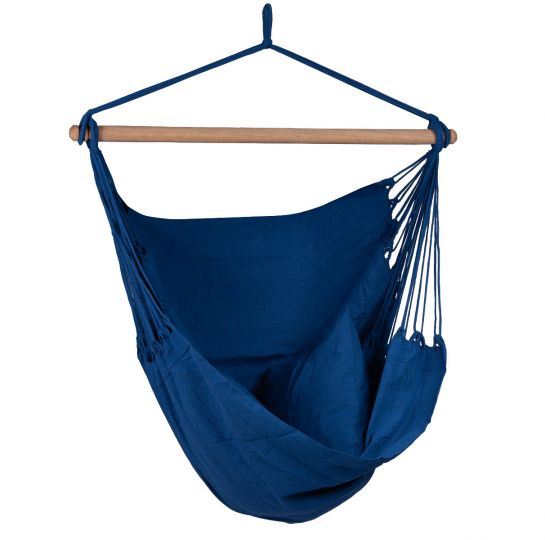Hanging Chair 1 Person Organic Blue