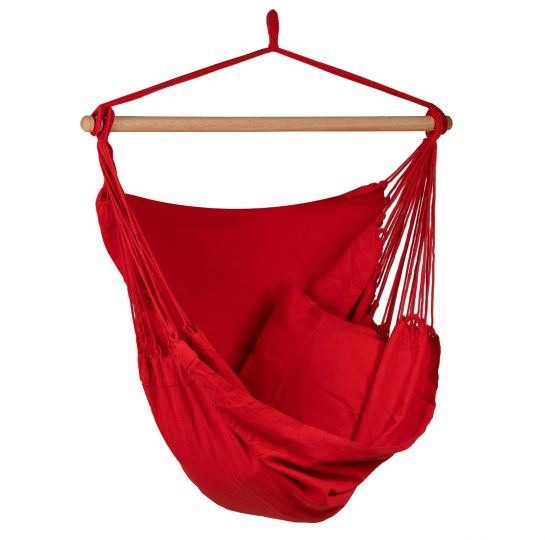 Hanging Chair 1 Person Organic Red