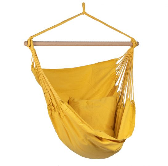 Hanging Chair 1 Person Organic Yellow