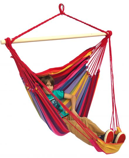 Hanging Chair 1 Person Tropical Raspberry Lounge