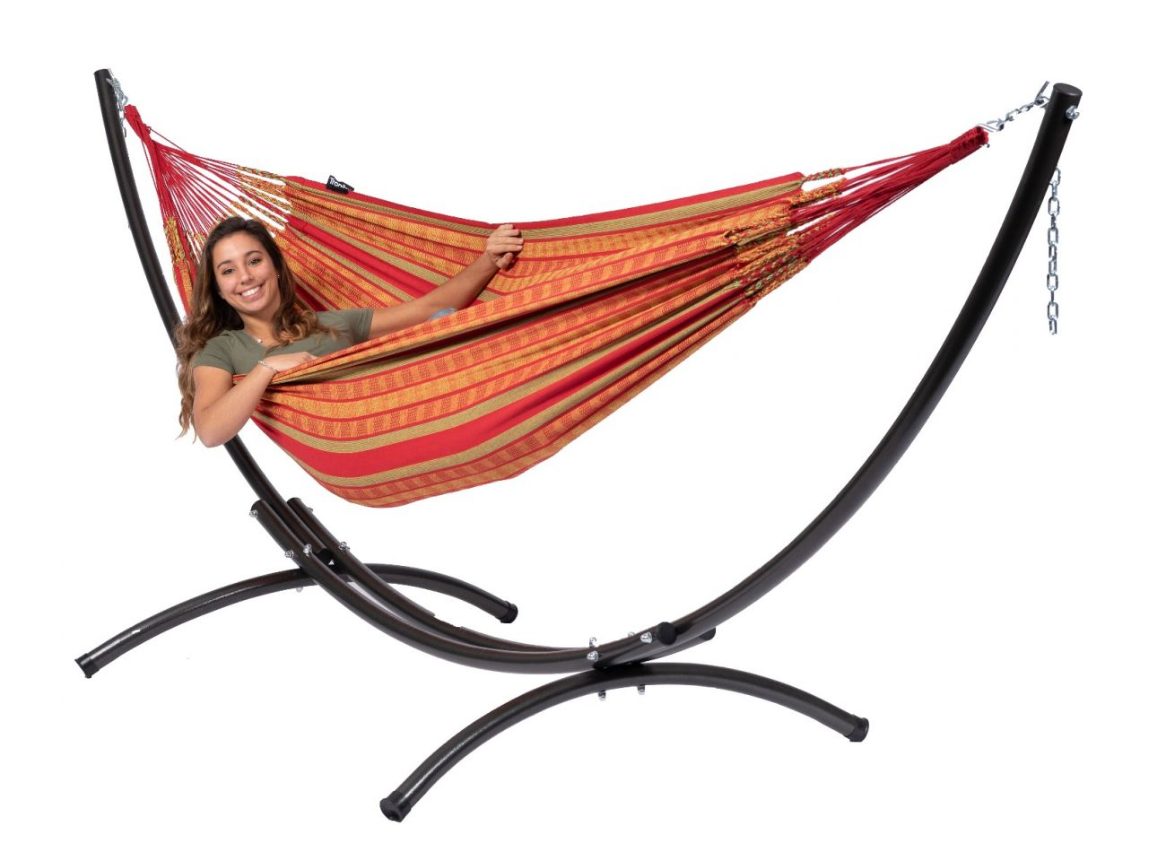 Hammock with 2 Persons Stand Arc & Chill Happy
