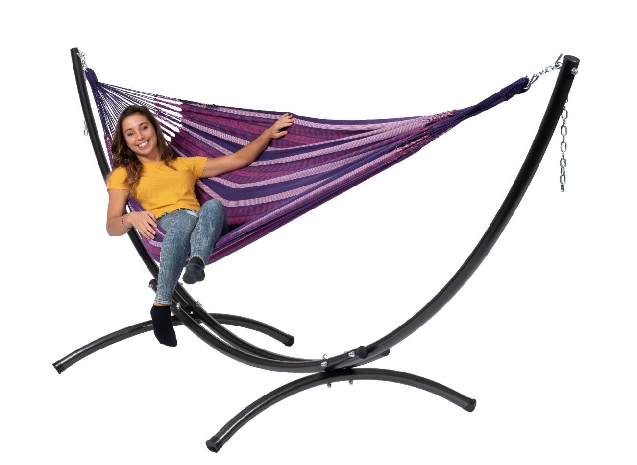 Hammock with 2 Persons Stand Arc & Chill Love