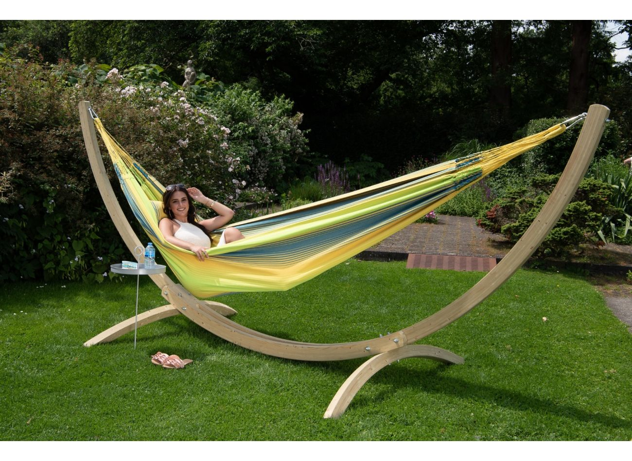 Hammock with Family Stand Wood & Refresh Cocktail