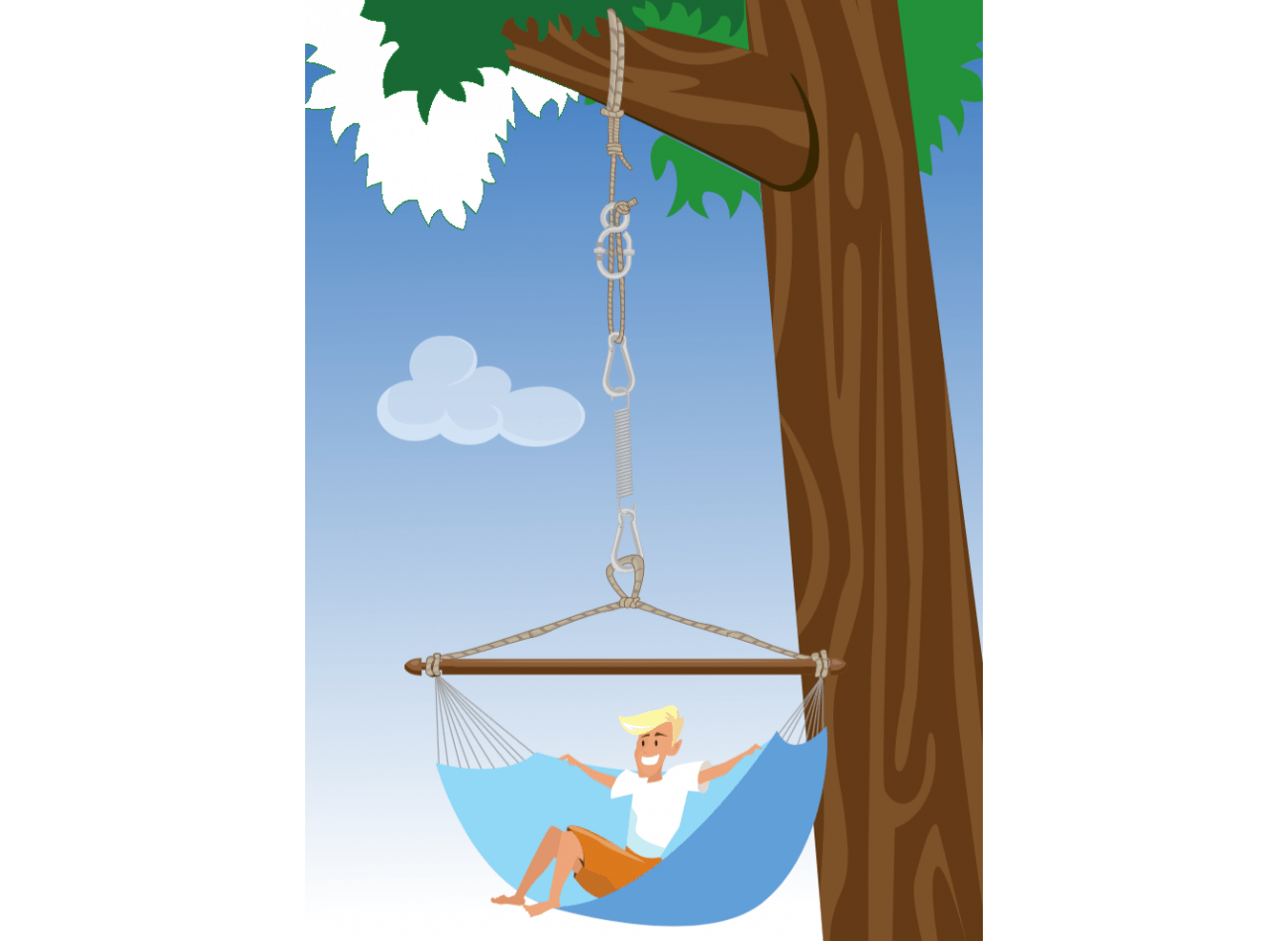 Hanging Chair Mounting Simple White