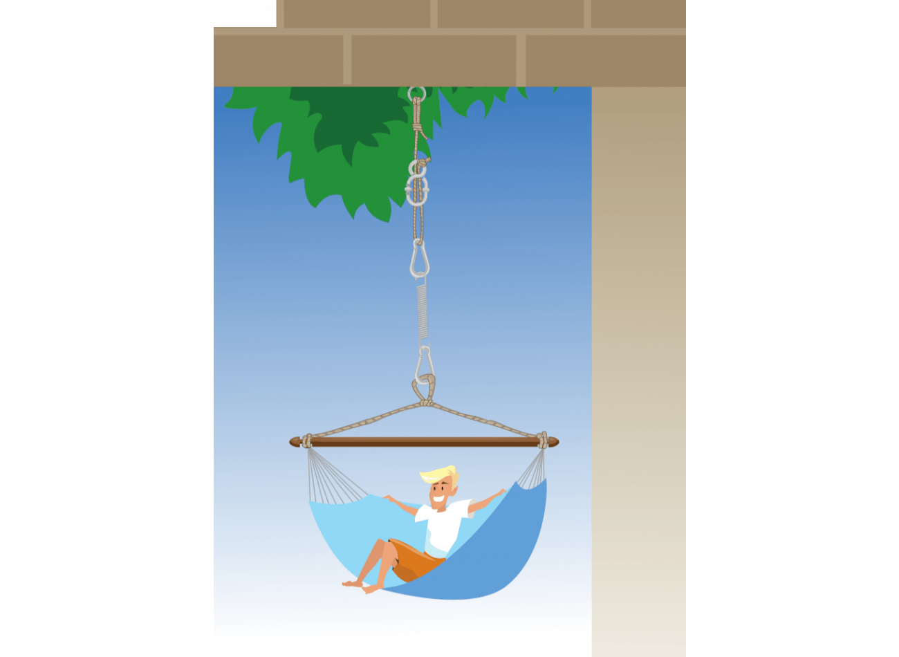 Hanging Chair Mounting Complete White