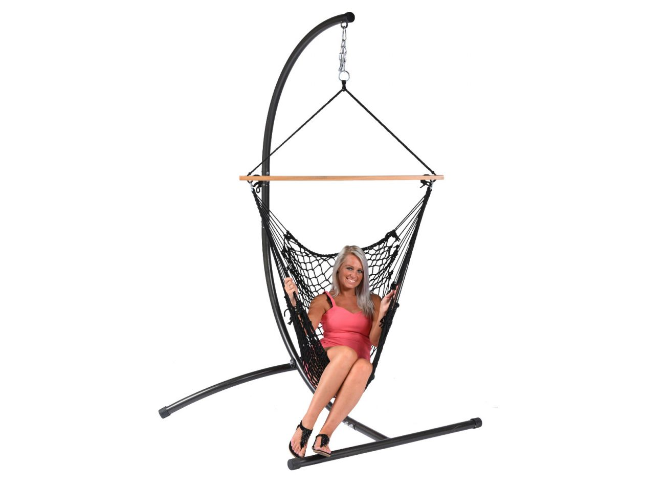 Hanging Chair 1 Person Rope Black