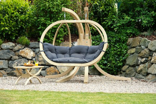Hanging Chair with Stand Globo Royal Anthracite