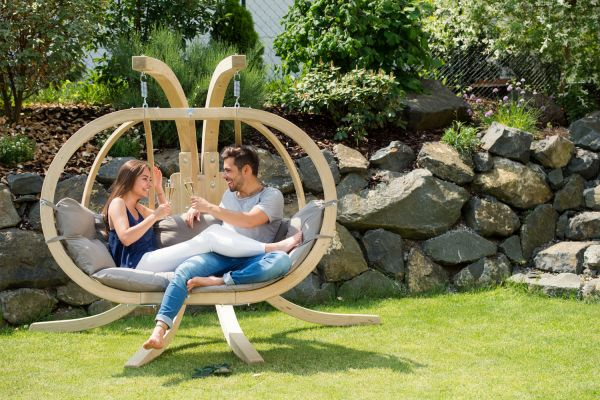 Hanging Chair with Stand Globo Royal Taupe