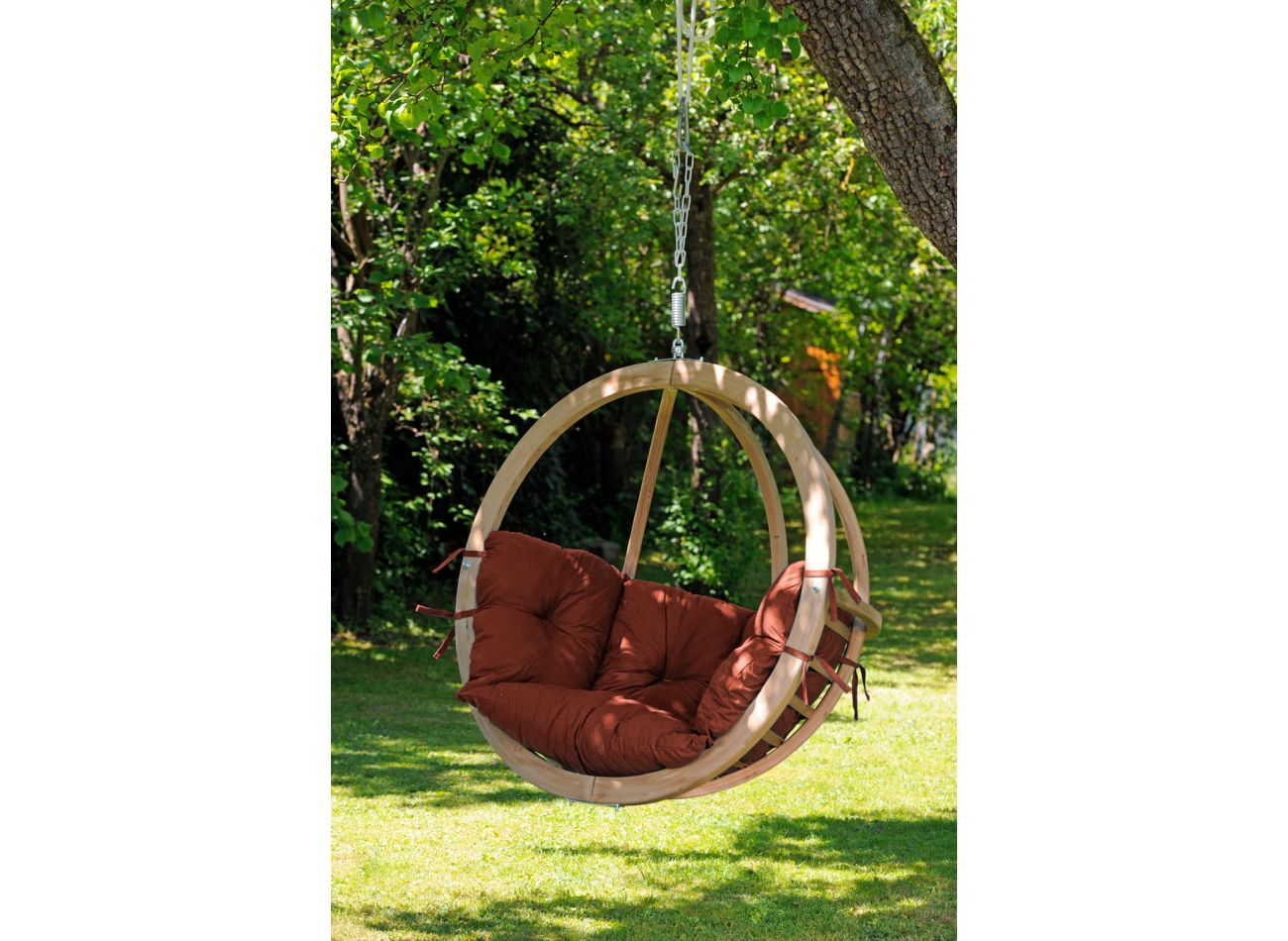 Hanging Chair 1 Person Globo Terracotta