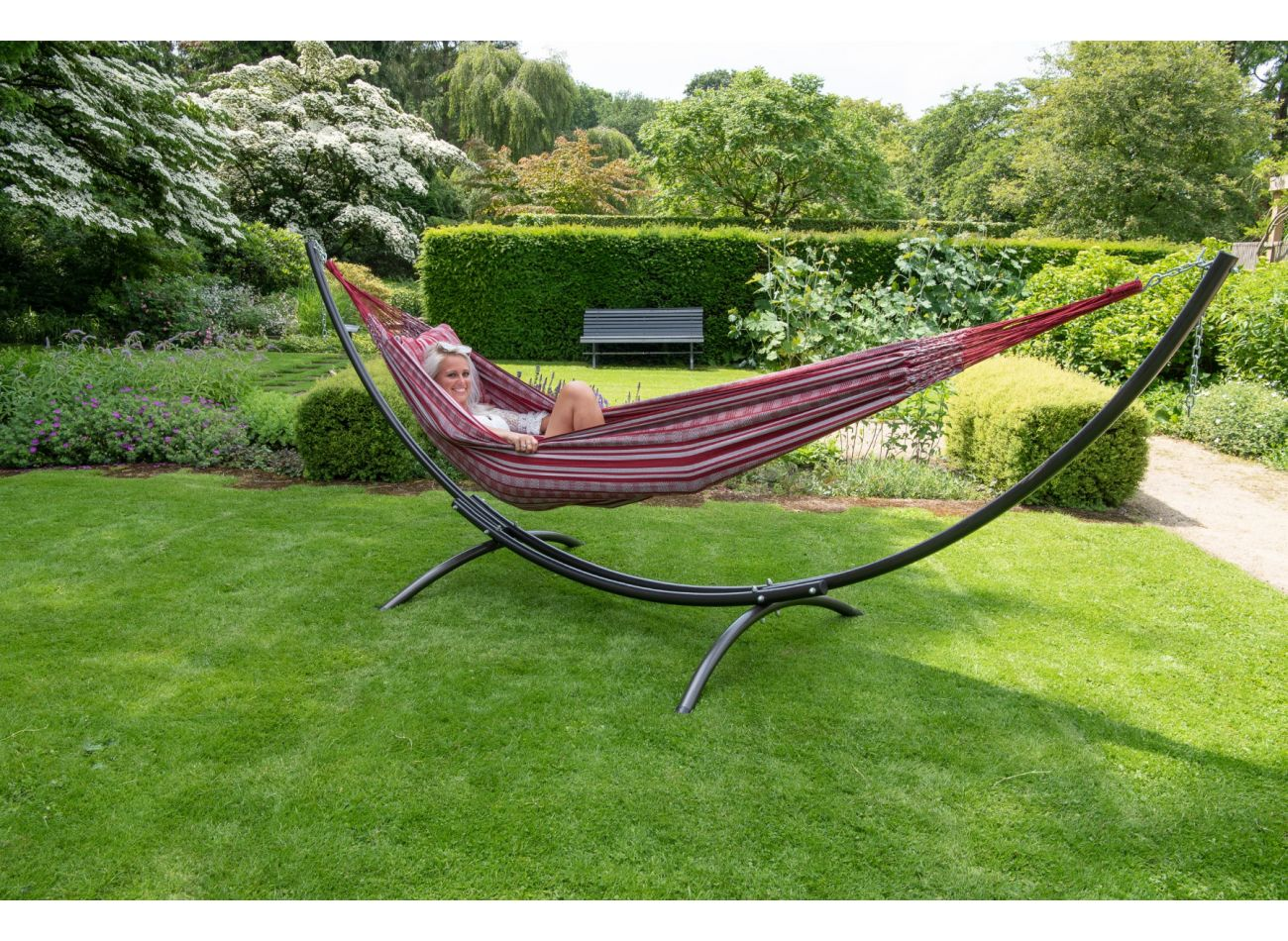Hammock 2 Persons Comfort Bordeaux