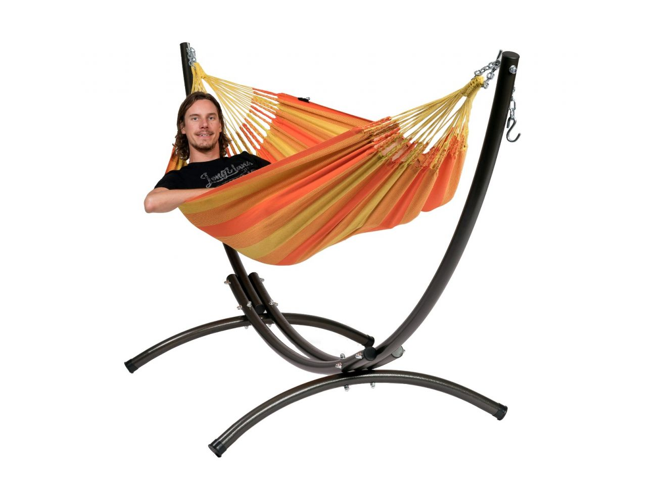 Hammock with 1 Person Stand Arc & Dream Orange