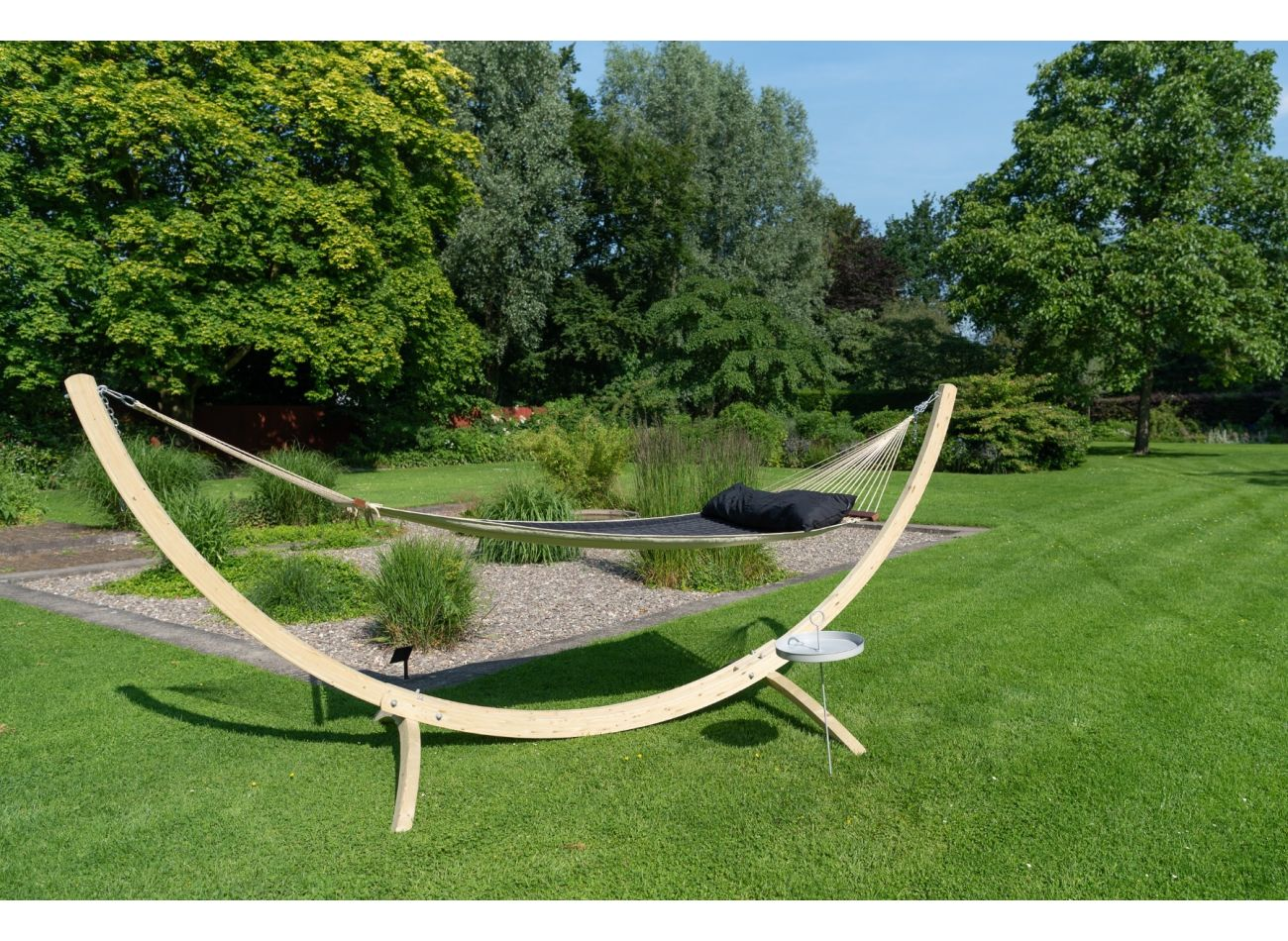 Hammock with Family Stand Wood & Vegas Black