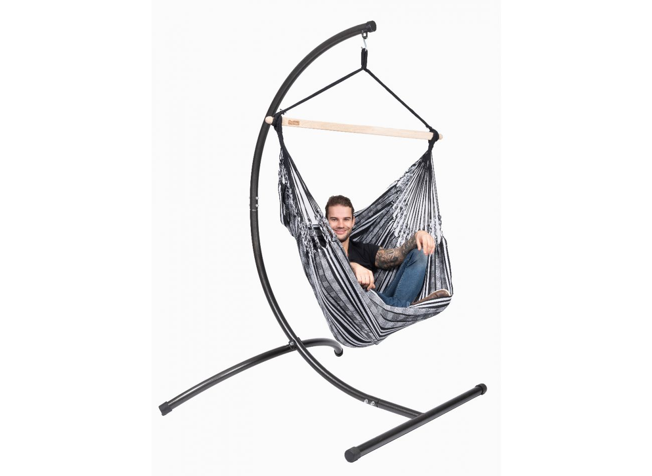 Hanging Chair 1 Person Comfort Black White