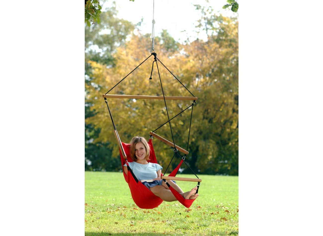 Hanging Chair 1 Person Swinger Red