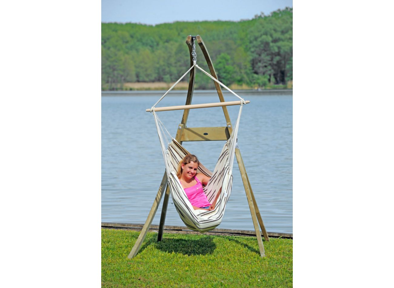 Hanging Chair 1 Person Brasil Cappuccino