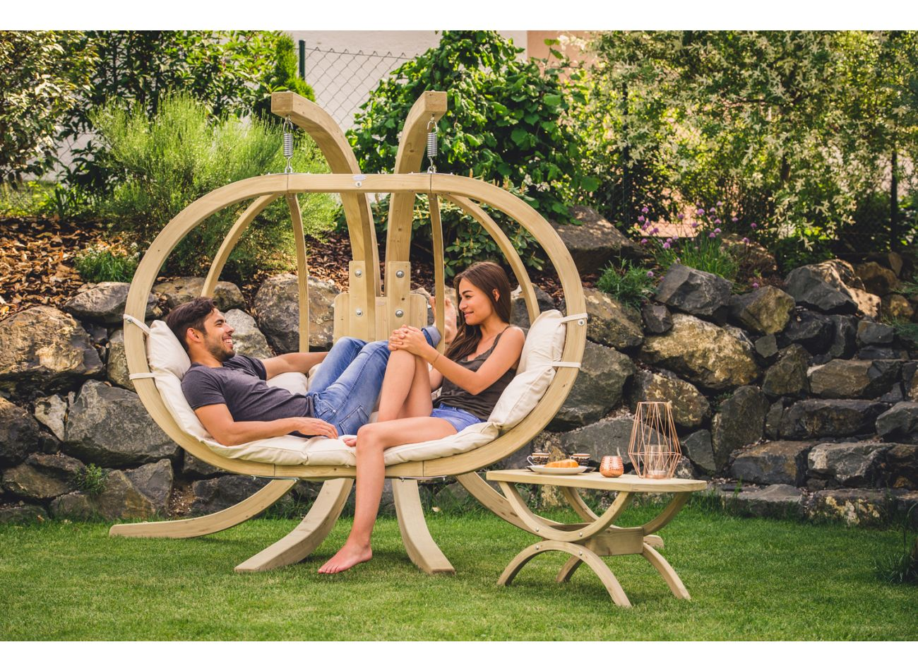 Hanging Chair with Stand Globo Royal Natura