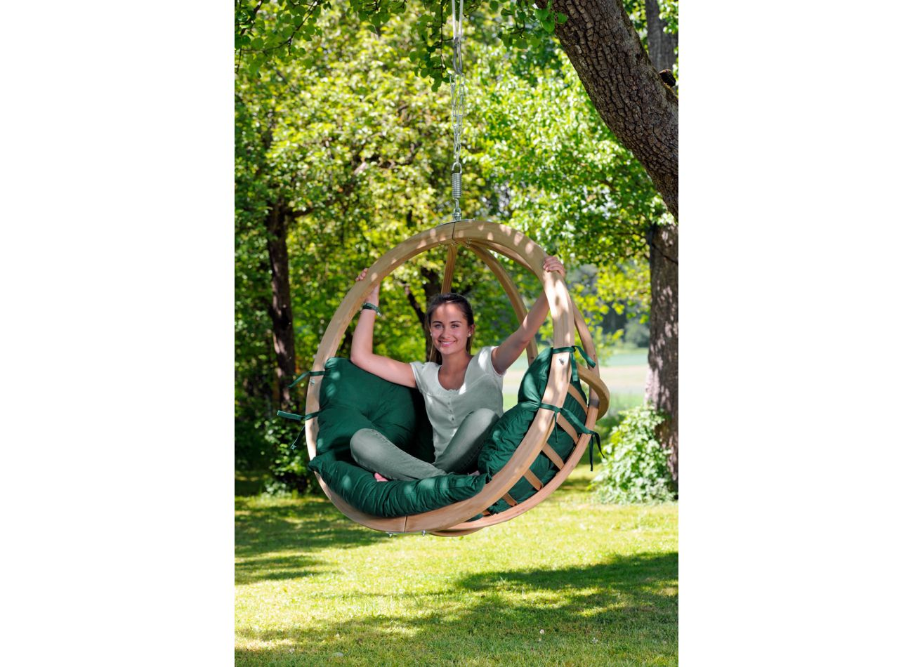 Hanging Chair 1 Person Globo Weatherproof Green