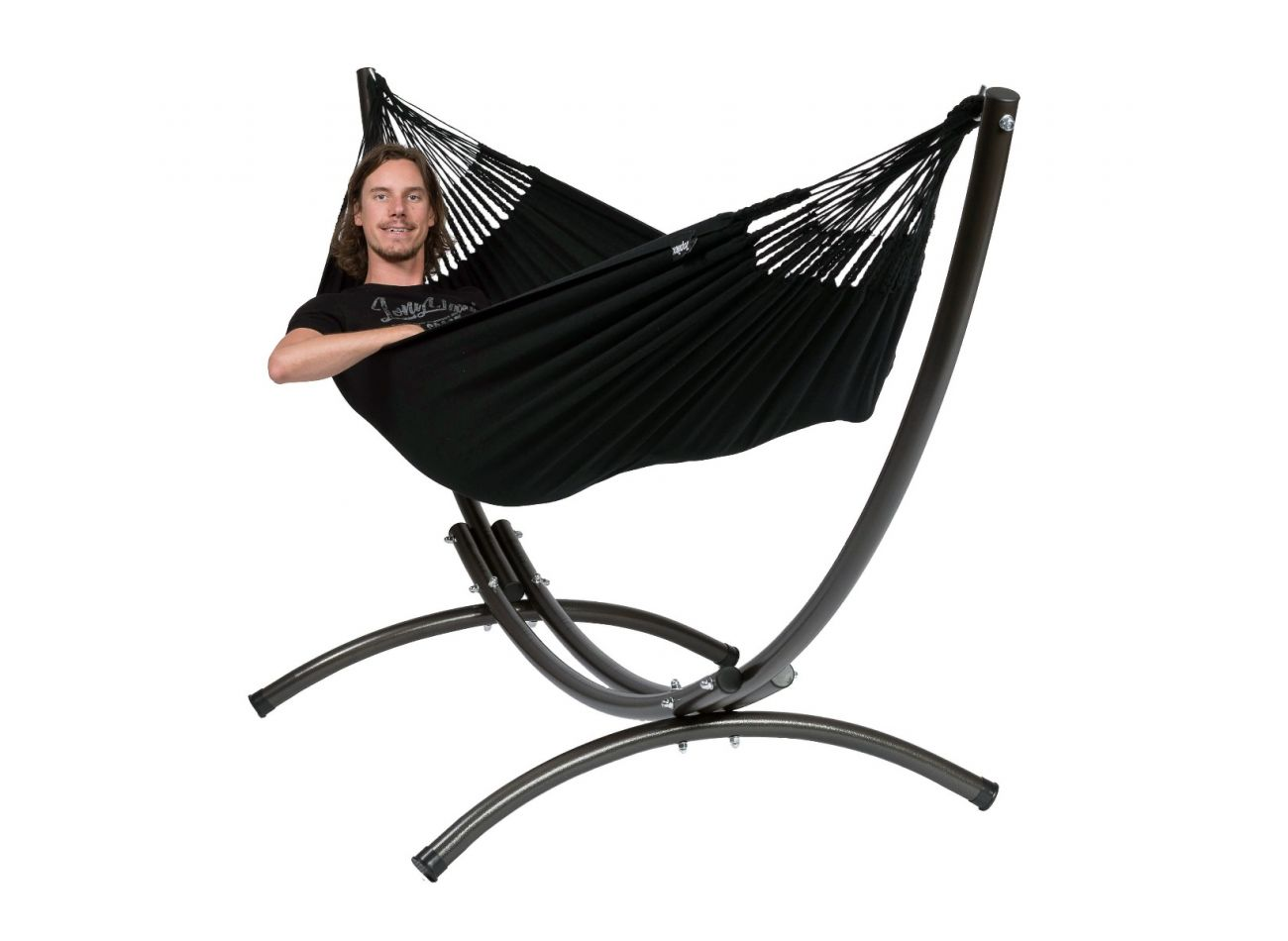 Hammock with 1 Person Stand Arc & Classic Black
