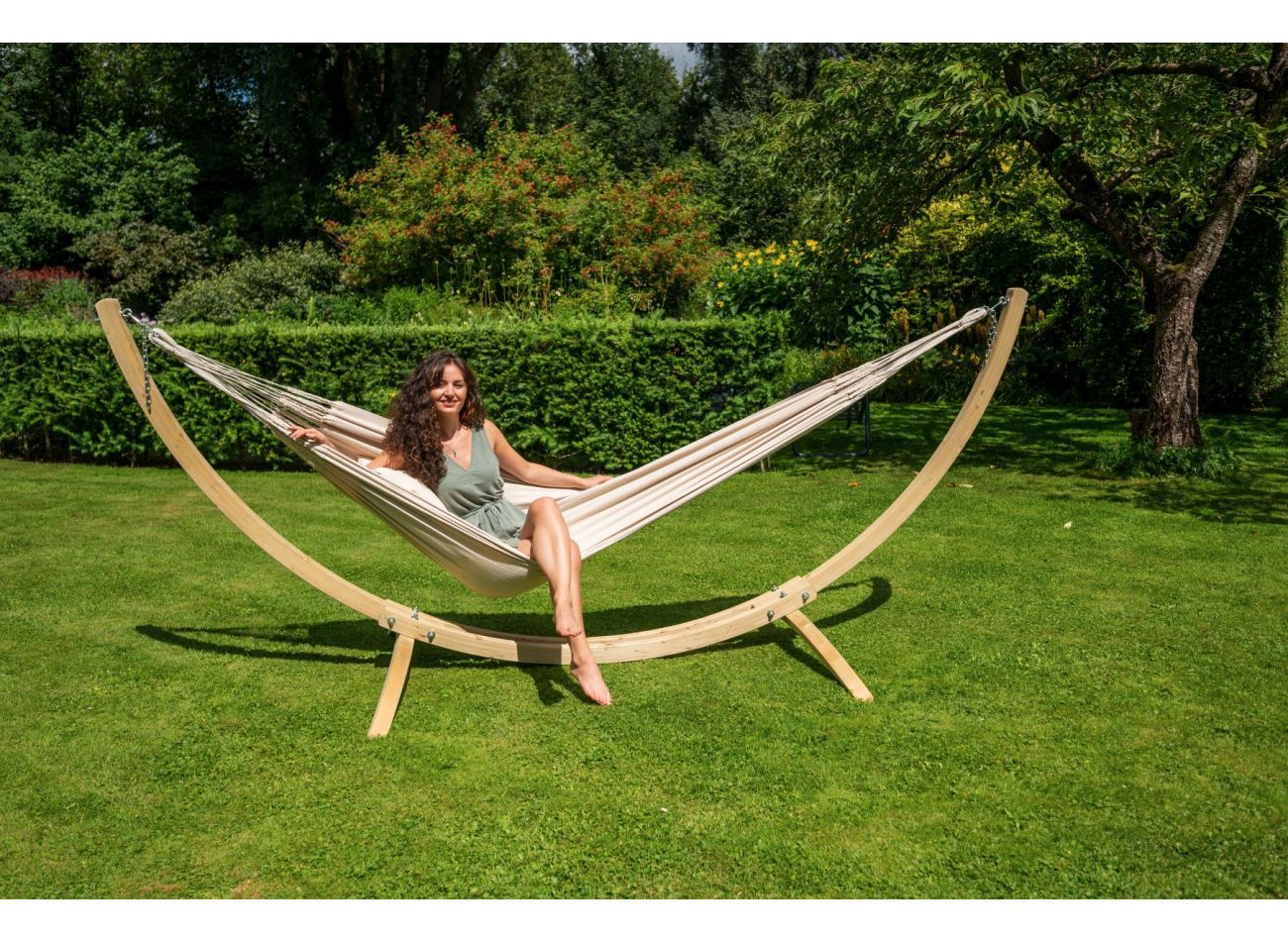 Hammock Stand 1 Person Wood Second Chance