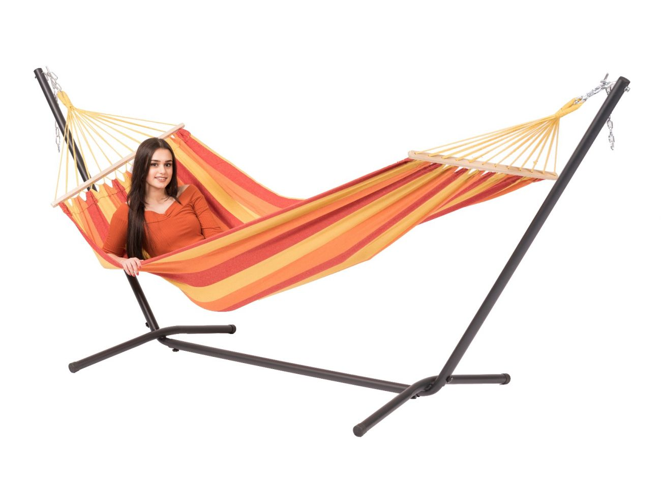 Hammock with 1 Person Stand Easy & Dominica Fire