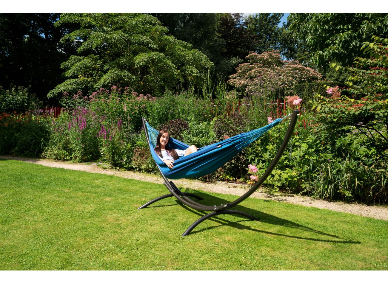 Hammock with 1 Person Stand Arc & Dream Blue