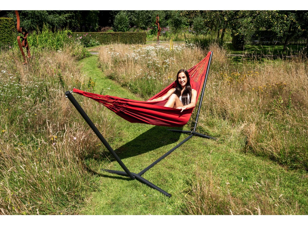 Hammock with 1 Person Stand Easy & Dream Red