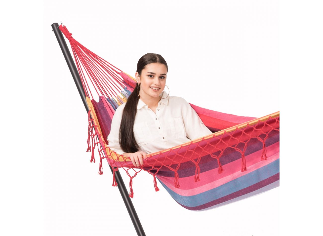 Hammock with 1 Person Stand Easy & Grenada Raspberry