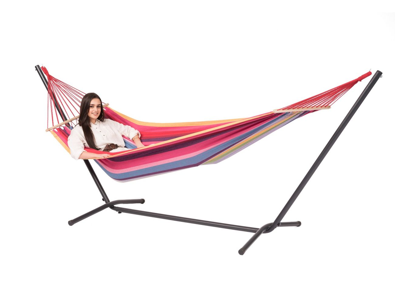 Hammock with 1 Person Stand Easy & Martinque Raspberry