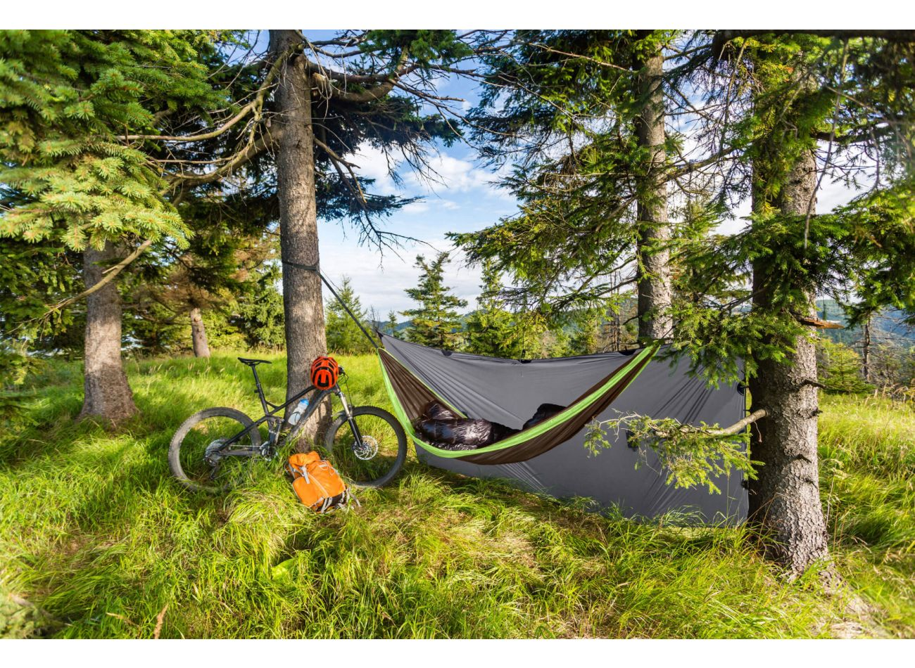 Hammock Travel 1 Person Outdoor Lime