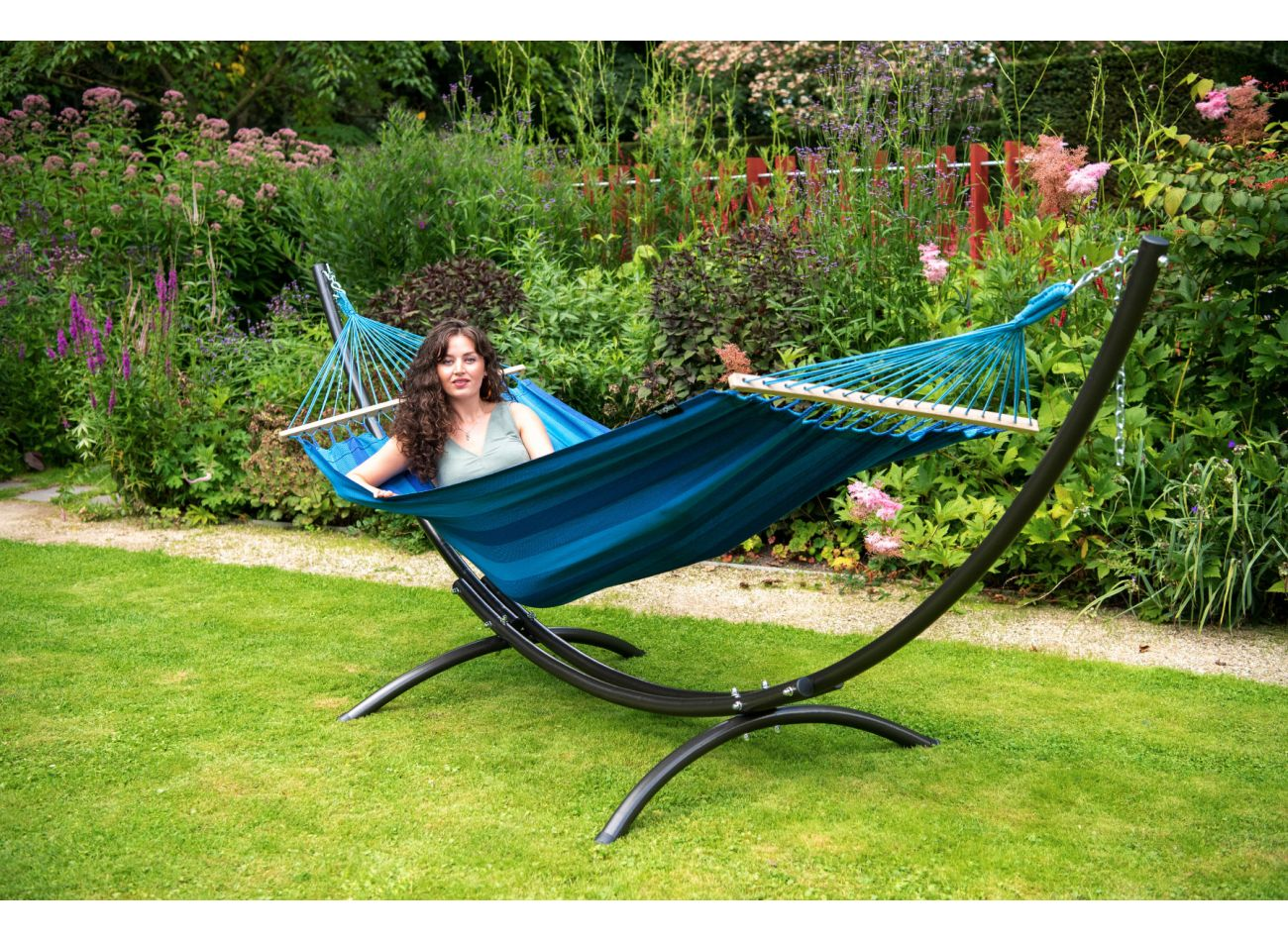 Hammock 1 Person Relax Blue