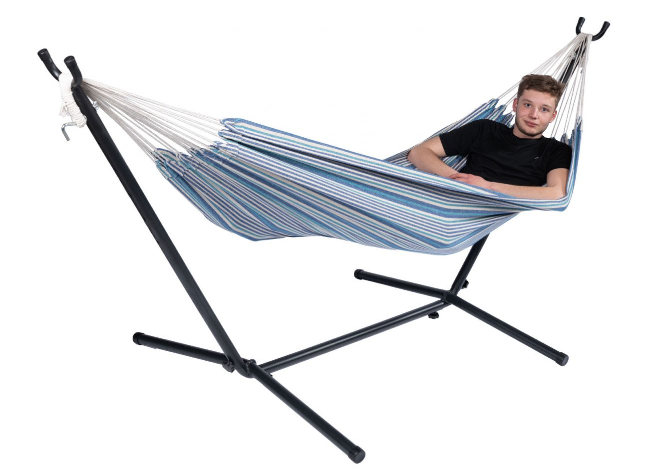 Hammock with 1 Person Stand Rustic Single
