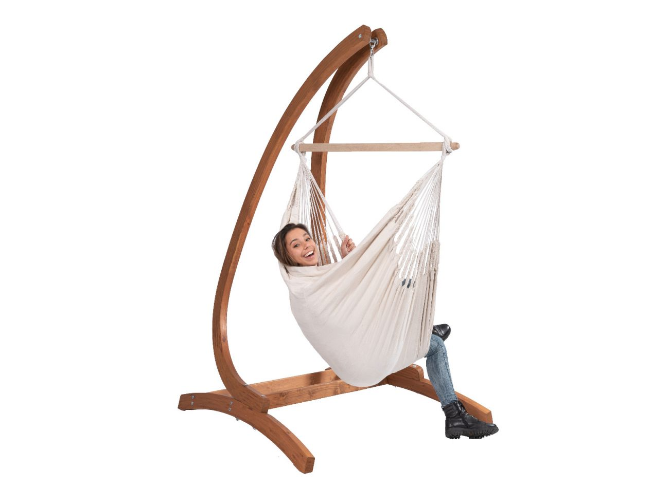 Hanging Chair 1 Person Comfort White