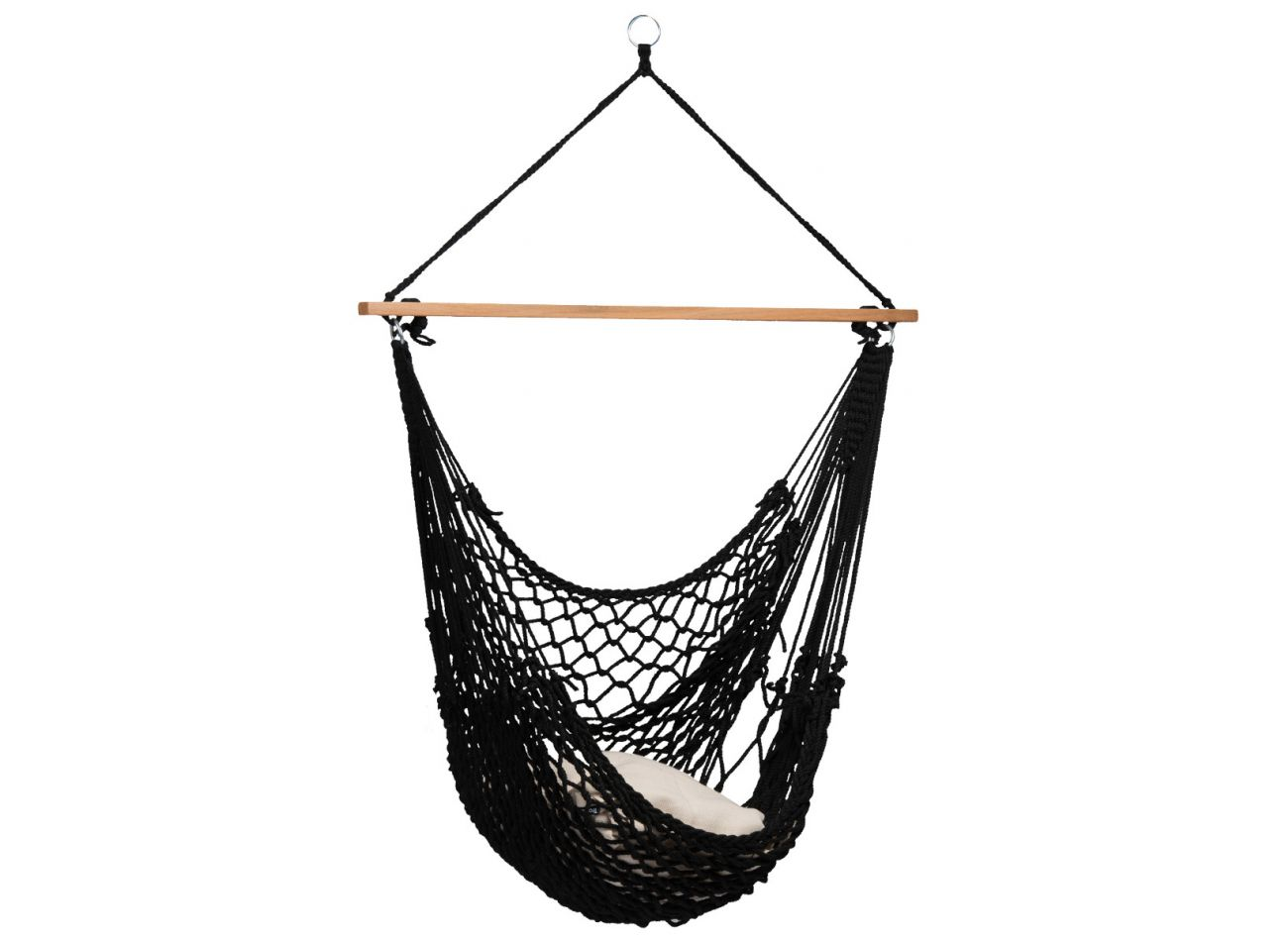 Picture of: Buy Hanging Chair 1 Person Rope Black At The Hammock